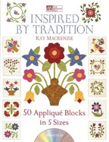 Inspired by Tradition, 50 Appliqué Blocks in 5 Sizes  Book Cover