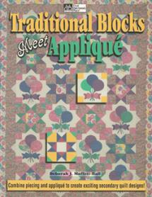 Traditional Blocks meet Applique Book Cover