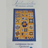 Jubileumskvilten, 25 olika block i lappteknik  Book Cover