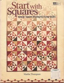 Start With Squares – Speedy Square Piecing for Scrap Quilts Book Cover