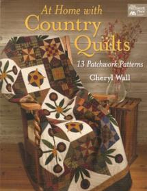 At Home With Country Quilts, 13 Patchwork Patterns  Book Cover