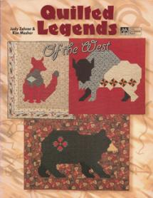 Quilted Legends of the West  Book Cover